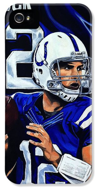 Andrew Luck IPhone 5 Case by Chris Eckley