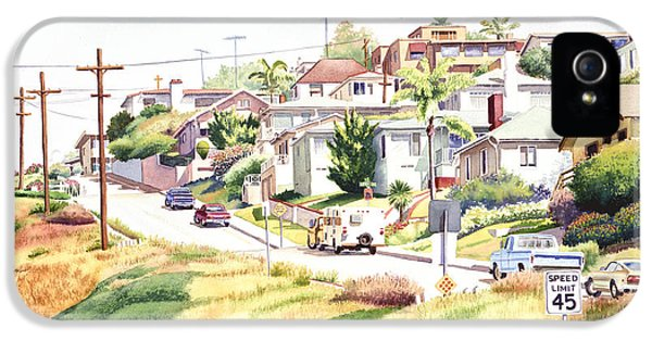 Andrews Street Mission Hills IPhone 5 Case by Mary Helmreich