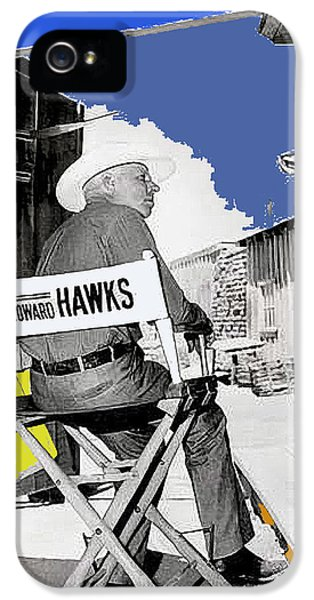 Angie Dickinson And Howard Hawks Publicity Photo Rio Bravo Set Old Tucson Arizona 1959 IPhone 5 / 5s Case by David Lee Guss