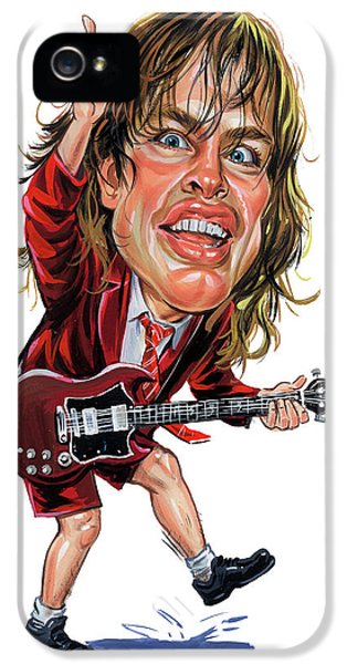 Angus Young IPhone 5 Case by Art