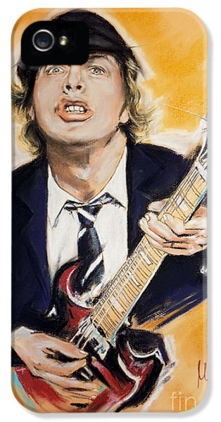 Angus Young IPhone 5 Case by Melanie D