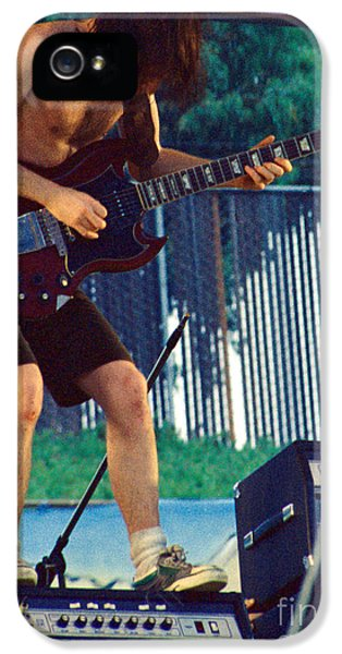 Angus Young Of A C D C At Day On The Green Monsters Of Rock IPhone 5 Case