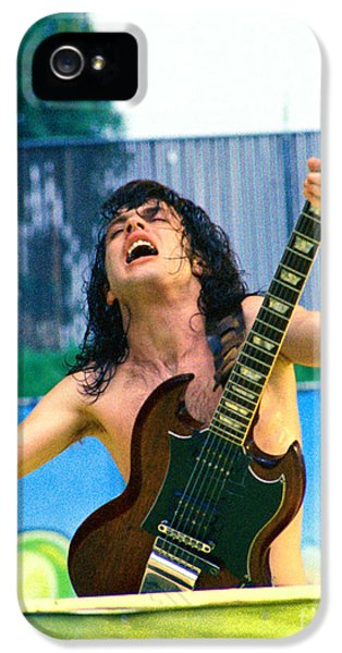 Angus Young Of A C D C At Day On The Green Monsters Of Rock  7-21-79  IPhone 5 Case by Daniel Larsen