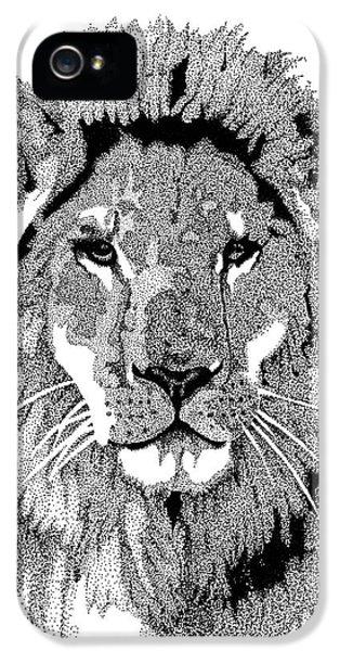 Animal Prints - Proud Lion - By Sharon Cummings IPhone 5 Case by Sharon Cummings