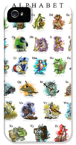 Animals And Instruments Alphabet IPhone 5 Case by Sean Hagan