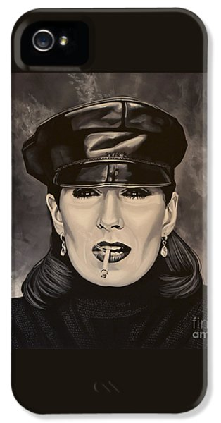 Anjelica Huston IPhone 5 Case by Paul Meijering