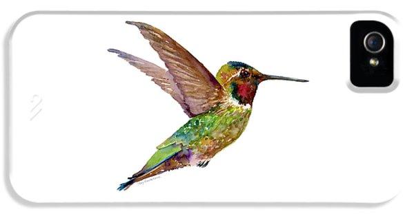 Anna Hummingbird IPhone 5 Case by Amy Kirkpatrick