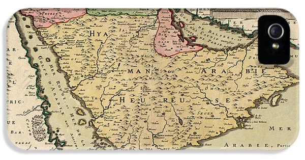 Antique Map Of Saudi Arabia And The Arabian Peninsula By Nicolas Sanson - 1654 IPhone 5 Case by Blue Monocle