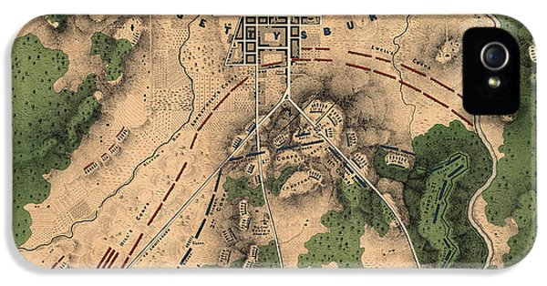 Antique Map Of The Battle Of Gettysburg By William H. Willcox - 1863 IPhone 5 Case