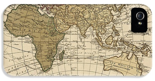 Antique Map Of The Eastern Hemisphere By William Faden - 1786 IPhone 5 Case