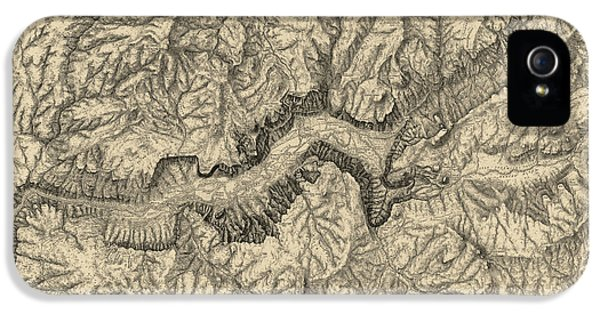 Antique Map Of Yosemite National Park By George M. Wheeler - Circa 1884 IPhone 5 / 5s Case by Blue Monocle