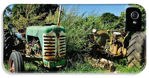 Oliver Tractor iPhone 5 Case - Antique Old Oliver Tractors 15 9/7 by Mark Lemmon