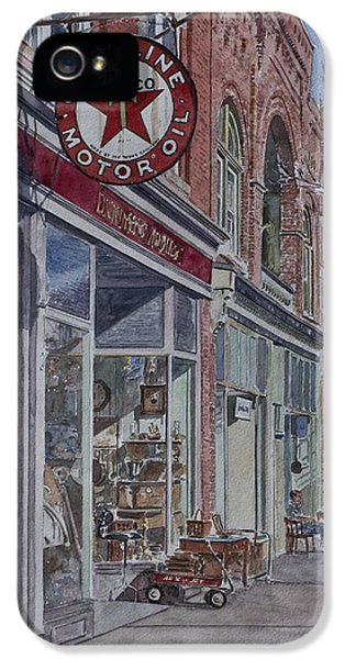 Antique Shop Beacon New York IPhone 5 Case by Anthony Butera