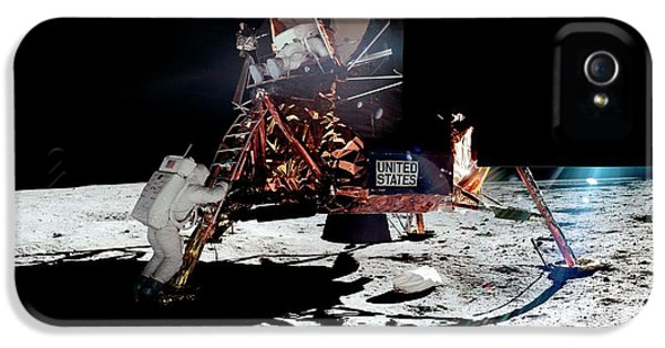 Apollo 11 Moon Landing IPhone 5 Case by Nasa/detlev Van Ravenswaay