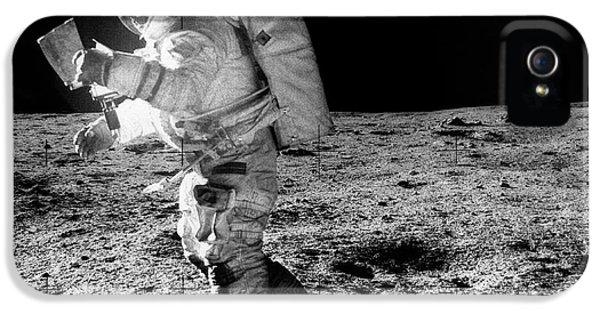 Apollo 14 Astronaut On The Moon IPhone 5 Case by Nasa/detlev Van Ravenswaay