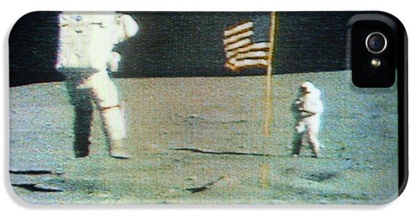 Apollo 16 Moon Walk IPhone 5 Case by Nasa