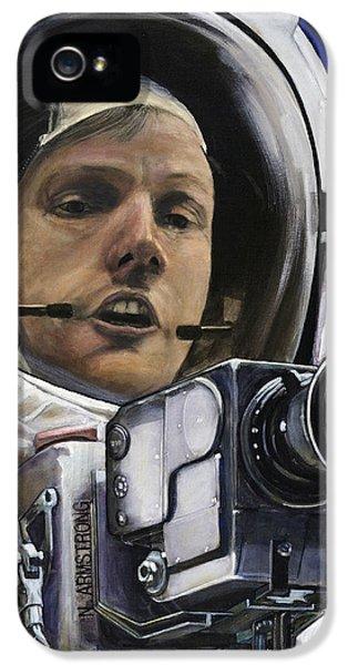 Apollo- For Mankind IPhone 5 Case by Simon Kregar