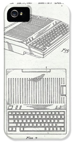Apple IIe Computer Original Patent IPhone 5 Case by Edward Fielding