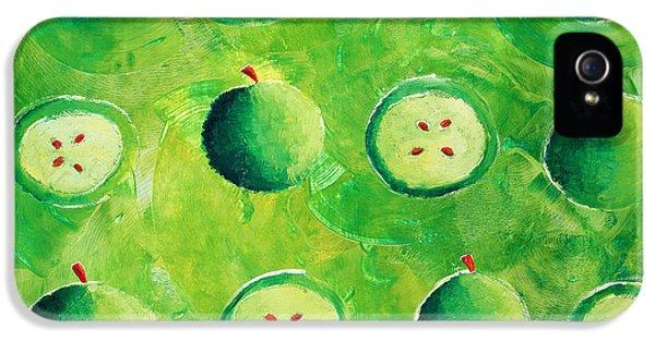 Apples In Halves IPhone 5 Case by Julie Nicholls