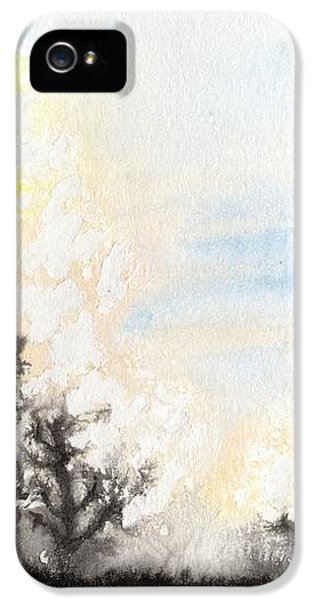 IPhone 5 Case featuring the painting Arbres En Feu by Marc Philippe Joly