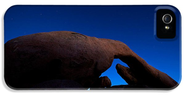 Arch Rock Starry Night IPhone 5 Case by Stephen Stookey