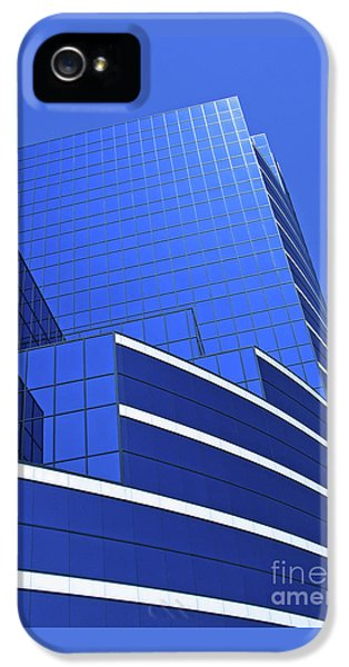 Architectural Blues IPhone 5 Case by Ann Horn