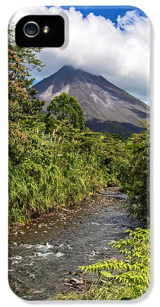 Arenal From The Rio Agua Caliente IPhone 5 Case by Andres Leon