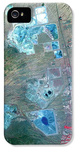 Arizona Copper Mine IPhone 5 Case by Nasa/gsfc/meti/ersdac/jaros, And U.s./japan Aster Science Team