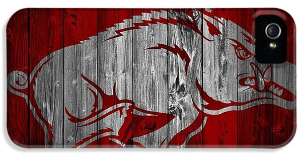 University Of Arkansas iPhone 5 Case - Arkansas Razorbacks Barn Door by Dan Sproul