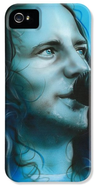 Pearl Jam iPhone 5 Case - Arms Raised In A V by Christian Chapman Art