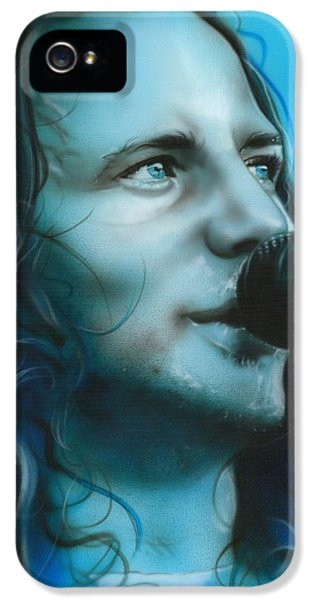 Eddie Vedder - ' Arms Raised In A V ' IPhone 5 Case by Christian Chapman Art