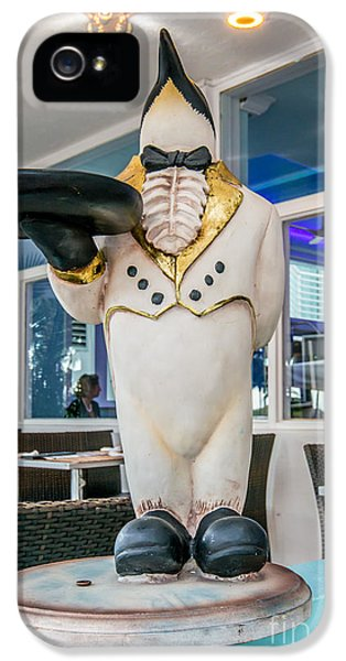 Art Deco Penguin Waiter South Beach Miami IPhone 5 Case