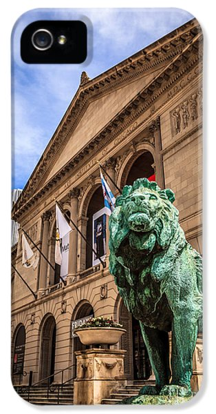 Art Institute Of Chicago Lion Statue IPhone 5 Case by Paul Velgos