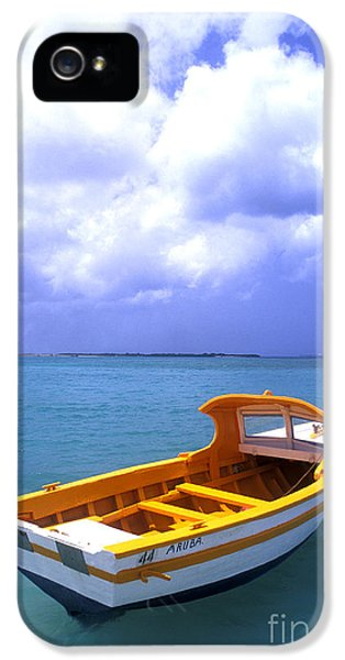 Aruba. Fishing Boat IPhone 5 Case by Anonymous