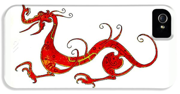 Dragon iPhone 5 Case - Asian Dragon by Michael Vigliotti
