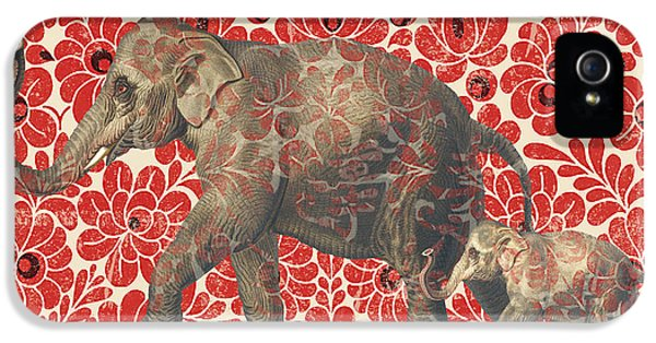 Asian Elephant-jp2185 IPhone 5 Case by Jean Plout