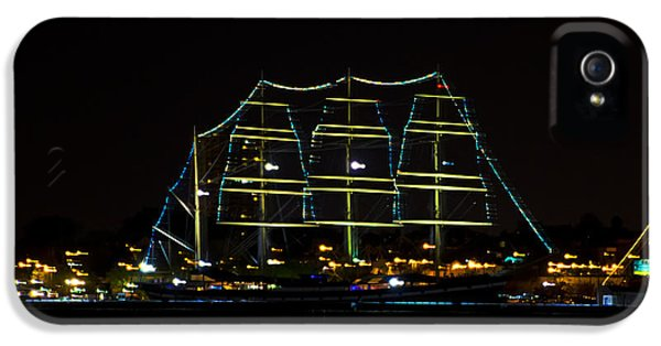 At Night On The  Delaware River - The Mushulu IPhone 5 Case by Bill Cannon