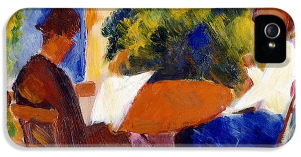 Garden iPhone 5 Case - At The Garden Table by August Macke