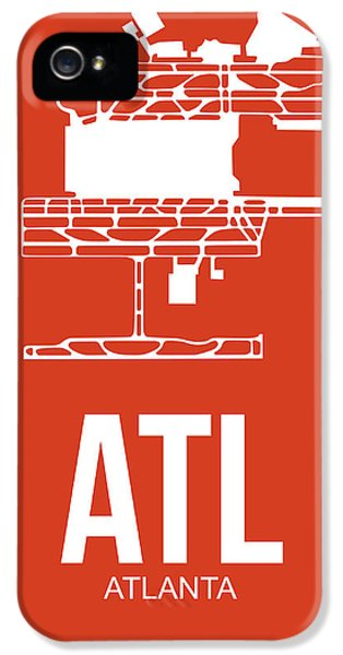 Atl Atlanta Airport Poster 3 IPhone 5 Case by Naxart Studio