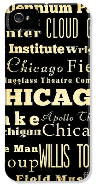 Attractions And Famous Places Of Chicago Illinois IPhone 5 Case by Joy House Studio