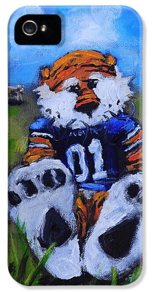 Aubie With The Cows IPhone 5 Case by Carole Foret