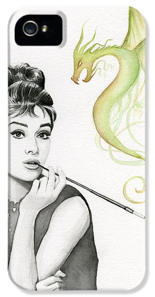 Magician iPhone 5 Case - Audrey And Her Magic Dragon by Olga Shvartsur