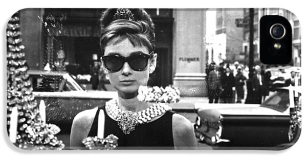 Audrey Hepburn Breakfast At Tiffany's IPhone 5 Case by Georgia Fowler