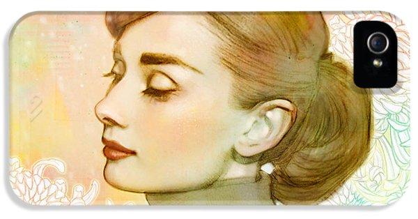 Audrey Hepburn iPhone 5 Case - Audrey Hepburn by Catherine Noel