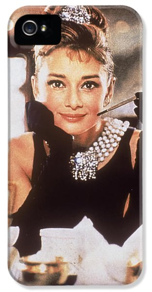 Audrey Hepburn IPhone 5 Case by Georgia Fowler