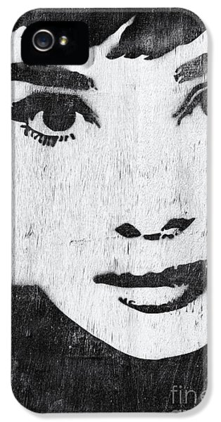 Audrey Hepburn IPhone 5 Case by Tim Gainey