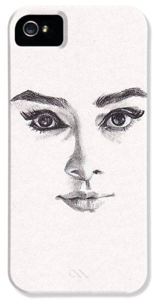 Audrey IPhone 5 Case by Lee Ann Shepard