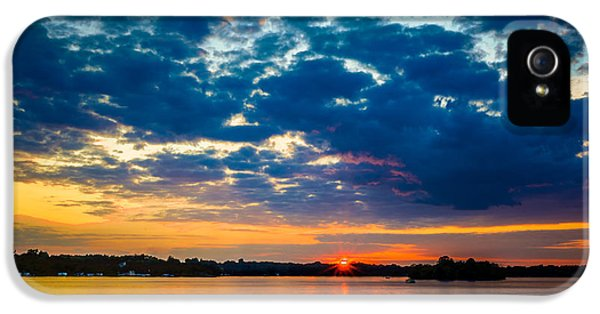 August Sunset Over Lake Nagawicka IPhone 5 Case by Randy Scherkenbach