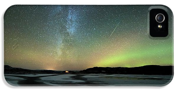 Aurora Borealis And Orionids IPhone 5 Case by Tommy Eliassen