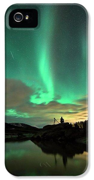 Aurora Borealis And Quadrantids IPhone 5 Case